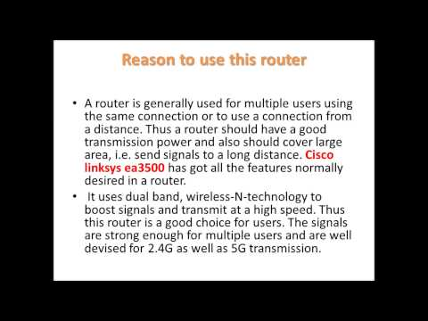 Cisco linksys ea3500  wireless router reviews