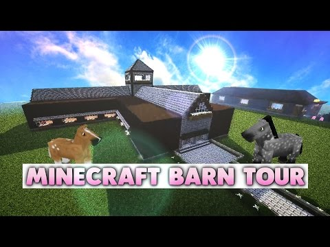 Minecraft Barn Tour - Hunter Haven Stables