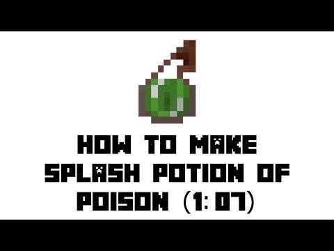 Minecraft Survival: How to Make Splash Potion of Poison (1:07)