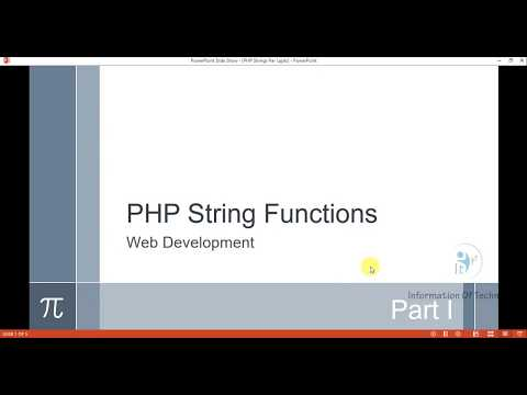 PHP String Functions Part I