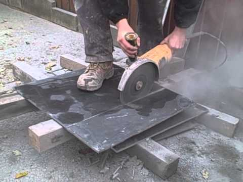 Cutting Slate - using an angle grinder
