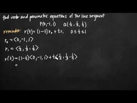 Vector and parametric equations of the line segment (KristaKingMath)