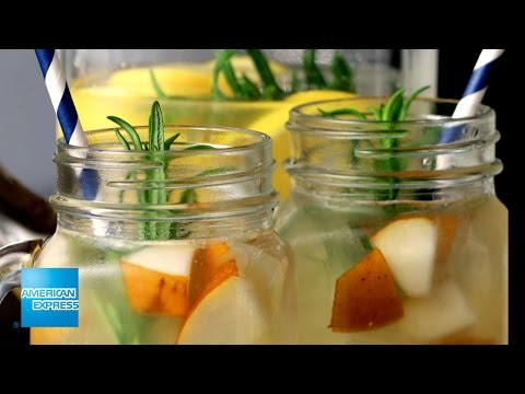 Citrus Pear Rosemary Mocktail | Epic Everyday | American Express