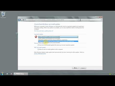 Windows 7 Ultimate 64 bit - How to enable or disable windows updates - www.vid4.us