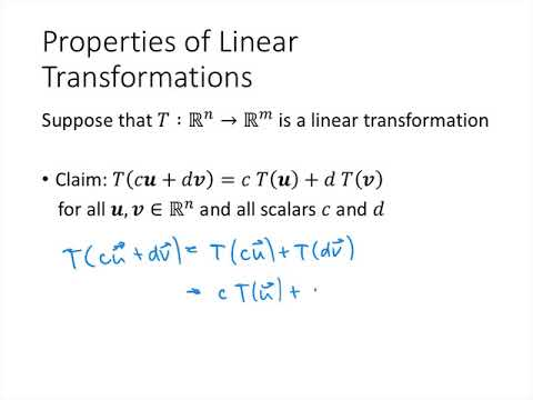 Linear Algebra - Lecture 18 - Linear Transformations