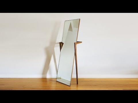 How To Build A Free Standing Mirror | Woodworking