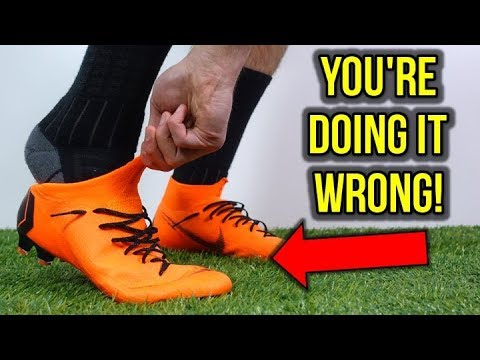 HOW TO PUT ON THE NIKE MERCURIAL SUPERFLY 6 *DON'T DAMAGE YOUR CLEATS!*