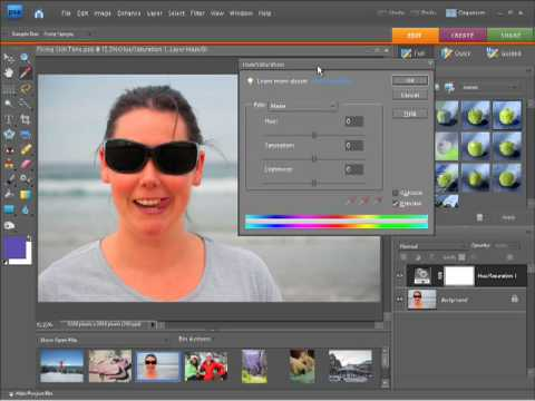 Photoshop Elements 7 Tutorial -  Fixing Skin Tone