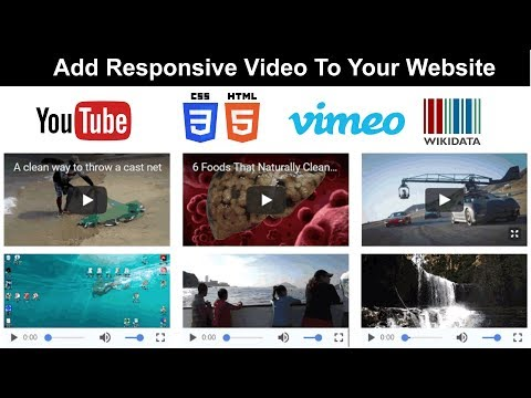 HTML5/CSS/PHP Responsive web design for Video embeds. Download the code 2018