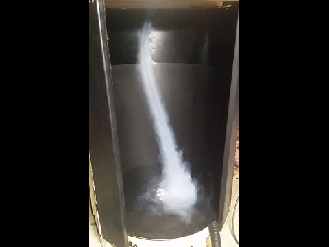 Vortex Generated by Homemade Tornado Machine