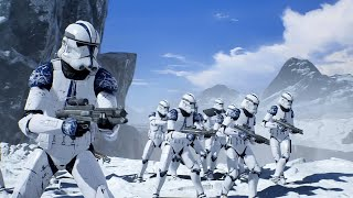 501st Legion Clone Troopers vs Purge Troopers - STAR WARS JEDI FALLEN ORDER NPC Wars