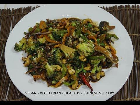 🍅 🍆 Chinese Broccoli Cashew Stir Fry Recipe Vegan Wok - Easy Quick Tasty
