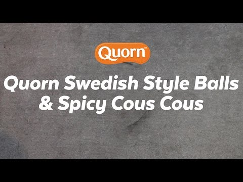Swedish Style Meat-Free Meatballs with Spicy Couscous Recipe | Quorn