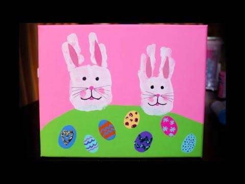 Easter Bunny Handprint Tutorial