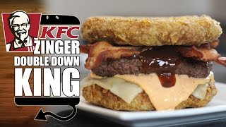 KFC Zinger Double Down King Recipe Remake - HellthyJunkFood