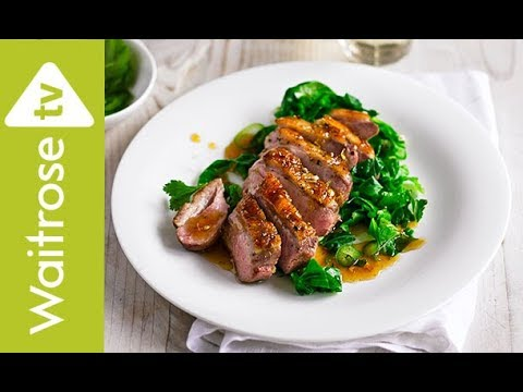 Glazed Duck Breasts with Greens | Waitrose