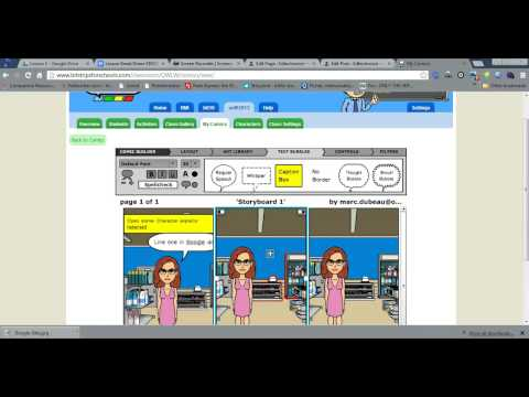 Creating a Storyboard with bistrips for Schools
