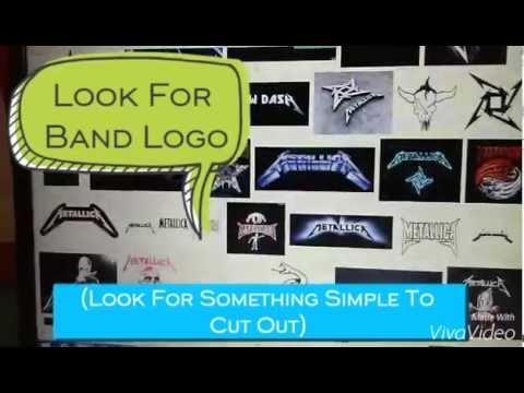 How To Make Band T-Shirt Logo!
