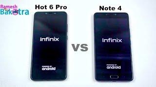 Infinix Hot 6 Pro vs Infinix Note 4 SpeedTest and Camera Comparison