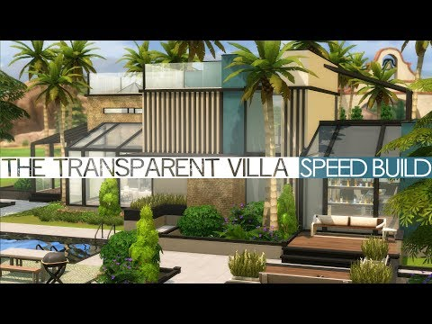 The Sims 4 Speed Build - THE TRANSPARENT VILLA