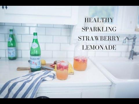 Healthy Drink Recipe- Sparkling Strawberry Lemonade
