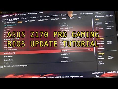 BIOS Update Guide Asus Z170 Pro Gaming Motherboard
