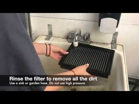 How to clean an aFe Power Pro 5R Oiled Flat Panel Filter