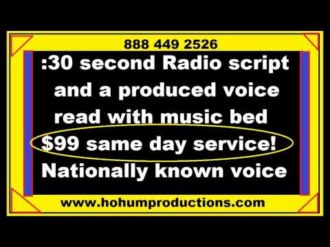 radio ad produced and script under a hundred bucks