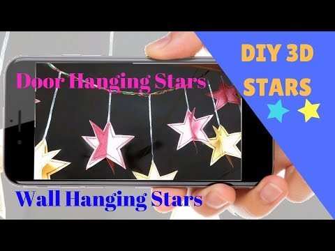 DIY 3D Star - Wall / Door Hanging for All Festive Occasion/ Christmas Decor/Room Decor Ideas
