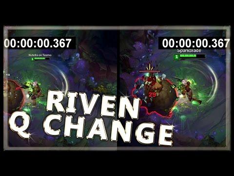 Riven Q Animation Cancel Change on PBE - League of Legends