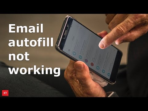Email address autofill not working for mail app in Samsung phone