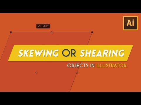 Skewing/Shearing Objects   Illustrator Tutorial