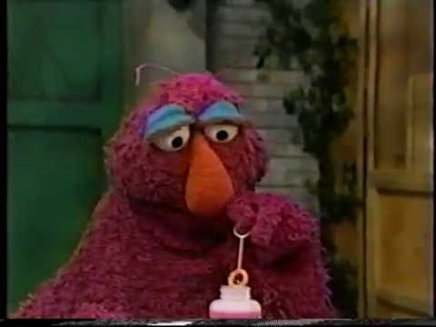 Sesame Street - Telly Tries to Blow Bubbles