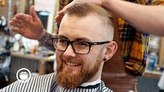 A Great Haircut for a High Hairline with Thin Hair