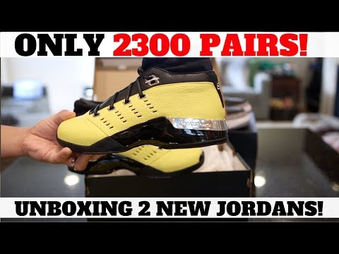 LIMITED TO 2300 pairs! 2 New Jordans Unboxed