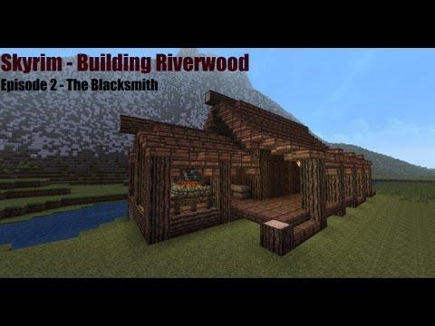 Minecraft Blacksmith Tutorial - Skyrim - Building Riverwood Episode 2