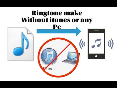2017 iTunes ve Bilgisayarsız   zil sesi yapma - Ringtone make on iPhone without iTunes