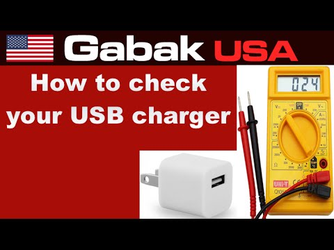 How to check an usb charger for your cellphone or tablet