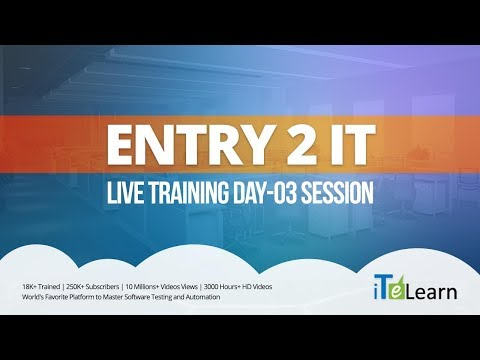 Entry to IT Live Training Day 03 Session  -  iTeLearn