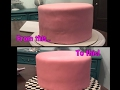 How to fix a cake with thin fondant