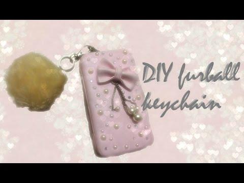 DIY Fur- Ball Keychain