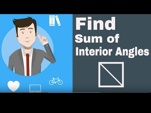 Find the sum of the interior angles for polygons (shapes)