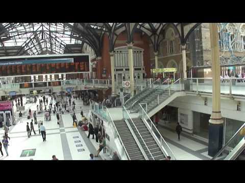 Standing inside Liverpool Street Train Station,  London, UK; 22nd August 2012