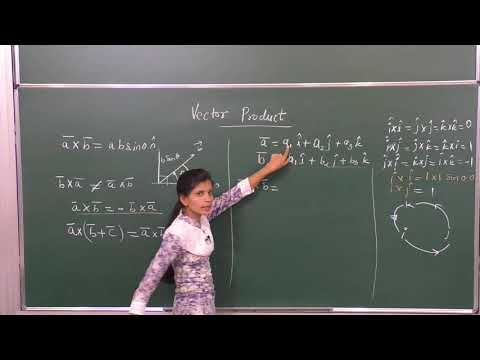 MATHS-XII-10-06 Cross product of vectors,   Pradeep Kshetrapal channel
