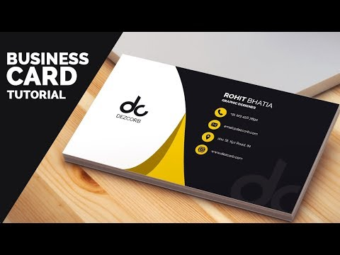 business card design in photoshop cs6 tutorial | Learn Photoshop Front