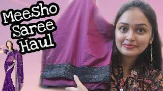 MEESHO SAREES HAUL || SAREES JUST UNDER 400RS || HEAVENLY HOMEMADE