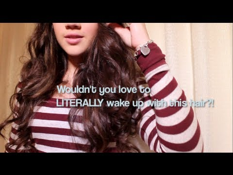 IT'S NOT CHEATING: Beautiful Curls with NO Heat or Rollers! (Wake up with perfect hair)
