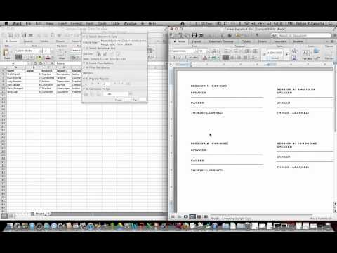 Using Mail Merge in Word to create forms and labels