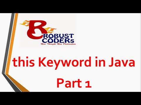this keyword in java | Robust Coders