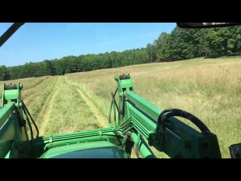 Cutting Hay In The Bale Contest Field!!!
